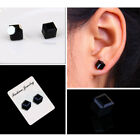 1Pair crystal weight loss magnetic earrings health magnets non-pierced  ear TB