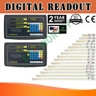 2 3 Axis Digital Readout TTL Linear Glass Scale DRO Encoder Kit Milling Lathe US