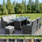 Rattan Garden Furniture Dining Table Sofa And Chairs Set Stool Black Brown Grey