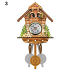 Antique Wooden Cuckoo Wall Clock Bird Time Cottage Shape Alarm Watch Home Decors