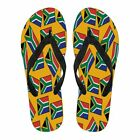 SOUTH AFRICA'S PRIDE! SOUTH AFRICA'S FLAGSHOE - Women's Flip Flops (gold bg)