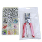 10 Colors Prong Ring Press Studs Snap Fasteners Dummy Clip 100/150Sets