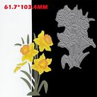 Lavender Metal Cutting Dies Daffodil Morning Glory Flowers Decorative Crafts