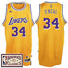 Shaquille O'Neal #34 Los Angeles Lakers Classic Gold Swingman Jersey NEW on eBay