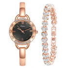 Luxury Women Rhinestones Bracelet Watch Set Ladies Quartz Dress Wristwatch Gift image