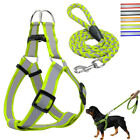 Step-in Dogs Harness&Walking Leash Set No Pullig Reflective Nylon Dog Vest Leads