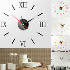 US Modern DIY Large Wall Clock 3D Mirror Surface Sticker Home Decor Art Design