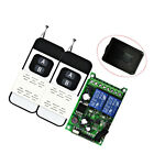 Wireless Remote Control Switch DC 12-48V 2CH Relay Receiver & RF Transmitter