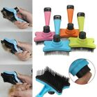 Pet Dog Cat Grooming Self Cleaning Slicker Brush Comb Shedding Tool Hair Fur UK