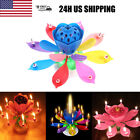 Kyпить 3PCS Birthday Cake Candle Musical Lotus Flower Floral Rotating DIY Decor music на еВаy.соm