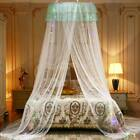 5 Colors Princess Round Dome Mosquito Net Mesh Bed Canopy Bedroom Decoration USA image
