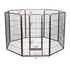 8 Panel Folding Metal Dog Exercise Fence Heavy Duty Pet Playpen Exercise Pen Cat