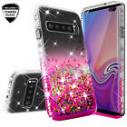For Samsung Galaxy S10/S10+/S10e Ring Stand Glitter Bling Phone Case w/Kickstand