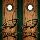 Philadelphia Eagles Cornhole Wrap NFL Decal Wood Vinyl Gameboard Skin Set YD314 $39.55 USD on eBay