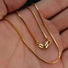"""1.2mm 18k Gold Plated Snake Chain Necklace Men Women Exquisite Jewelry 16-30"""""""