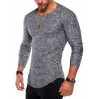 Men's Sports Tops Tee T-shirt Casual Slim Fit O Neck  Muscle Long Sleeve Blouse