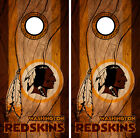 Washington Redskins Cornhole Wrap NFL Decal Wood Vinyl Gameboard Skin Set YD311 $39.55 USD on eBay