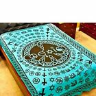 Coexist Multifaith Turquoise Tapestry (Twin) - Bed Spread, Wall Hanging, Decor
