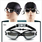 adulte anti fogging uv protection swimming goggles glasses waterproof+earbuds fr