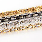 4/6/8mm Fashon Silver Gold Black Mens Byzantine Chain Stainless Steel Necklace