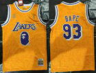 Los Angeles Lakers #93 Snoop Dogg Joint BAPE Yellow Basketball Jersey on eBay