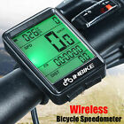 Digital LCD Cycle Computer Bicycle Bike Backlight Speedometer Odometer Cycling