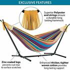 Double hammock Vivere with steel support to save space, Cotton