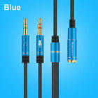 3.5mm Audio Mic Y Splitter Cable Headphone Adapter TRRS to 2 TRS For PC Laptops