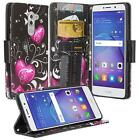 For Huawei Honor 6X / Mate 9 Lite Hybrid PU Leather Wallet Protective Case Cover
