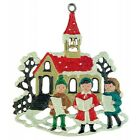 Singers by Church German Pewter Christmas Tree Ornament Decoration Made Germany