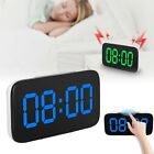 Large LED Digital Alarm Snooze Clock Voice Control Time Display 3.5 Screen NEW
