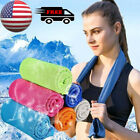 10X Outdoor Instant Ice Cooling Towel Sports Workout Fitness Gym Yoga Chilly Pad image