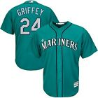 Ken Griffey Jr #24 Seattle Mariners Northwest Green Teal Classic Baseball Jersey on Ebay