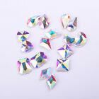 10Pcs/Pack 3D Nail Art Rhinestones Water Droplets Heart Moon Mixed Size Tools