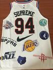 SUPRE²ME 18ss Basketball No. 94 Jersey NBA Teams S->2XL (It's centimeters)