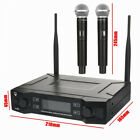 Professional 2 Channel UHF Wireless Dual Microphone Cordless Handheld Mic System