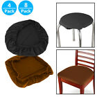 Set of 4/8Pcs Stretch Removable Washable Dining Room Chair Seat Cover Slipcover