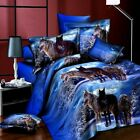 3D Effect 4 Pcs Quilt Duvet Covers With Fitted Sheet Bedding Set + 2 Pillow
