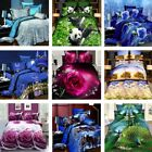 3D Effect 4 Pcs Quilt Duvet Covers With Fitted Sheet Bedding Set + 2 Pillow  image