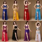 2019 Belly Dance Costume Set Outfit Top Bra  Skirt  Hip Scarf Halloween