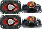 4%29+New+BOSS+CH4620+4x6%22+400W+2-Way+Car+Audio+Coaxial+Speakers+Stereo+Red