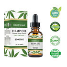 Organic Hemp Oil Drops 5000 mg Pain Relief Reduce Stress Support Sleep Aid Sl