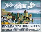 Poster Print Wall Art entitled Riviera Des Thunersees, Vintage Poster