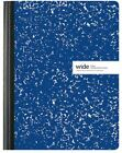 """Marble School Work Composition Book 9.75"""" Wide Ruled Black Red Green Blue Purple"""