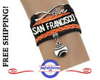 San Francisco GIANTS Leather Woven Bracelet **FREE SHIPPING** on Ebay