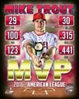 Mike Trout Los Angeles Angels MLB MVP Composite Photo TW246 (Select Size)