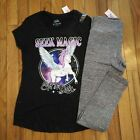 NWT Justice Girls Outfit Heart Top/Capri Leggings Size 6 7 8 10 12 14 16