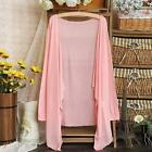 Summer Women Solid Cardigan Long Sleeve Open Front Sun Protection Clothing Tops
