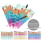 20pcs eye make up brushes diamond unicorn eyeshadow eyebrow blending brush set