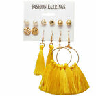 Women Long Silky Tassel Earrings Fringe Boho Ethnic Large Drop Dangle Earring UK